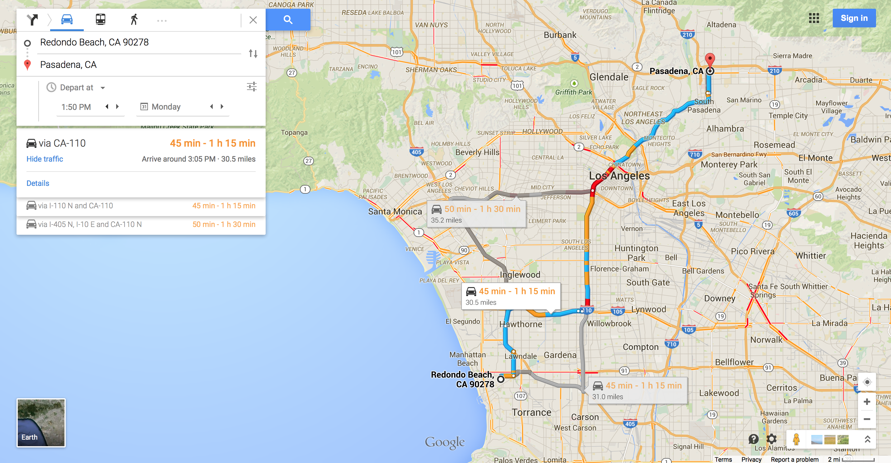 Charming California Map on
